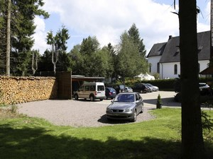 private parking lot and carport